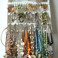 Jewelry Holder Earring Organizer 20 Peg by JewelryHoldersForYou