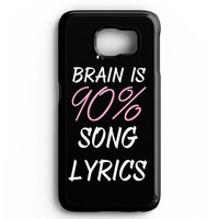 Cool Brain Song Music Cute Funny Quote Samsung galaxy S6 Case