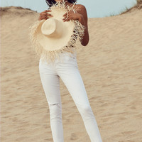 BDG Twig Crop High-Rise Skinny Jean - White Rips | Urban Outfitters
