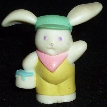 Hallmark Merry Miniature Easter Bunny Rabbit With Paint Can Figurine