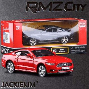 1:36 2015 Ford Mustang GT Car Education Model Classical Pull back Diecast Metal Toy For Kids ToysCollection Gifts Free Shipping