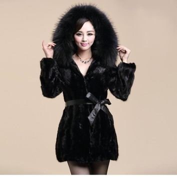 2016new winter fox fur vest faux fur women jacket mink outerwear Leather grass fur coat