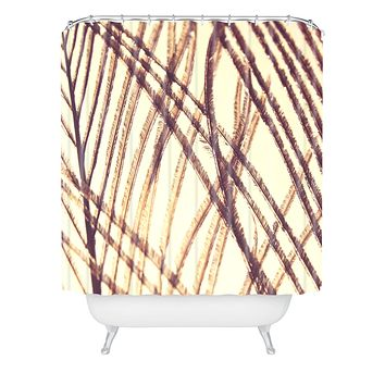 Shannon Clark Sheer Gold Shower Curtain