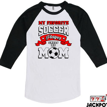 Soccer Gifts For Mom Soccer Mom Shirt Mothers Day Gift Soccer Lover Shirt Soccer Mom Gifts Baseball Tee American Apparel Raglan MD-615