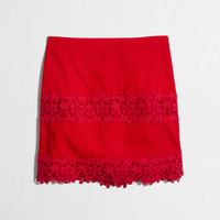 Factory cotton lace mini skirt in scalloped floral : Mini & A-Line   J.Crew Factory