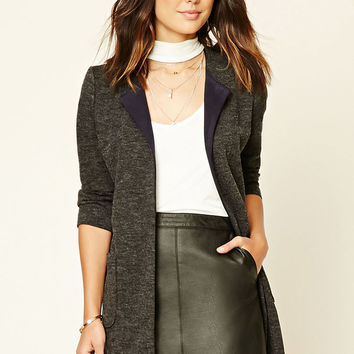Longline Heathered Knit Jacket