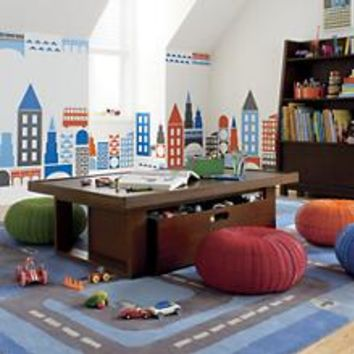 Kids' Play Tables: Kids Chocolate Colored Adjustable Mojo Play Table in Play Tables   The Land of Nod