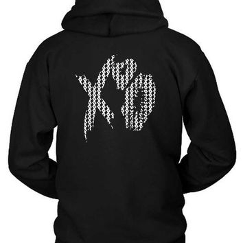 The Weeknd Xo Kisses Pattern Hoodie Two Sided