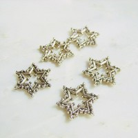 Antiqued Scroll Bethlehem Star 10pcs