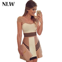 Vestidos 2016 Summer Dress Plus Size Elegant Casual Desigua Short Sleeve Striped Dresses Cute Formal Vestidos Office Dress