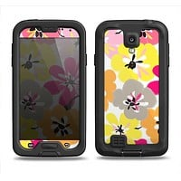 The Bright Summer Brushed Flowers  Samsung Galaxy S4 LifeProof Nuud Case Skin Set