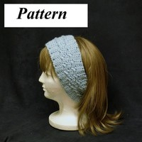 pdf Crochet Headband Earmuff Pattern Cable Cross OK to sell