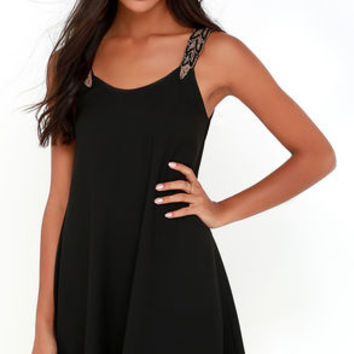 Tribute to Perfection Black Beaded Dress