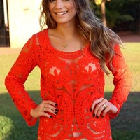 RUBY LACE LONG SLEEVE BLOUSE