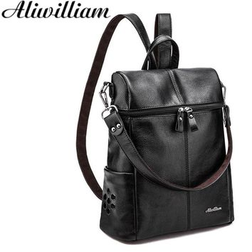 New Multifunction Backpacks Women Fashion Backpack High Quality Bagpack Bucket Bag Female Travel computer Bags School Bag AL98