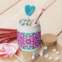 Candy Jar Floral abstract background