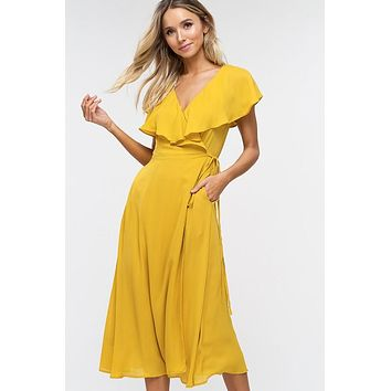 Summer Dreams Midi Dress - Mustard