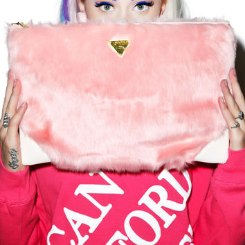 Joy Rich Candy Fur Clutch Bag