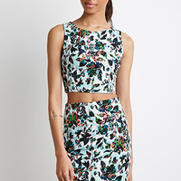 Abstract Floral Print Set