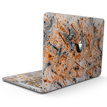 Abstract Wet Paint Orange - MacBook Pro with Touch Bar Skin Kit