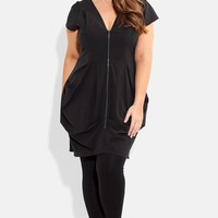 City Chic Front Zip Pleat Tunic (Plus Size)