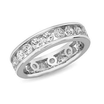 2 ct. tw. Channel Set Diamond Eternity Band Ring 14K White Gold