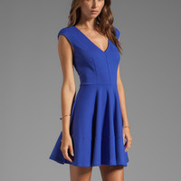 Eight Sixty Fit and Flare Dress in Blue