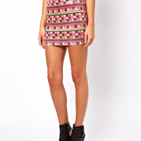 ASOS Mini Skirt In Aztec Sequin Print