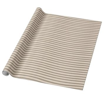 Beige Cream Stripes Wrapping Paper