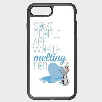 Custom iPhone Case Olaf Frozen quotes some people are worth melting for stl