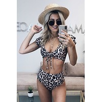 Moxy Tribe Leopard Bikini High Waist Bottom