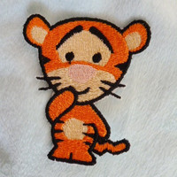 Cute baby Tigger iron-on patch