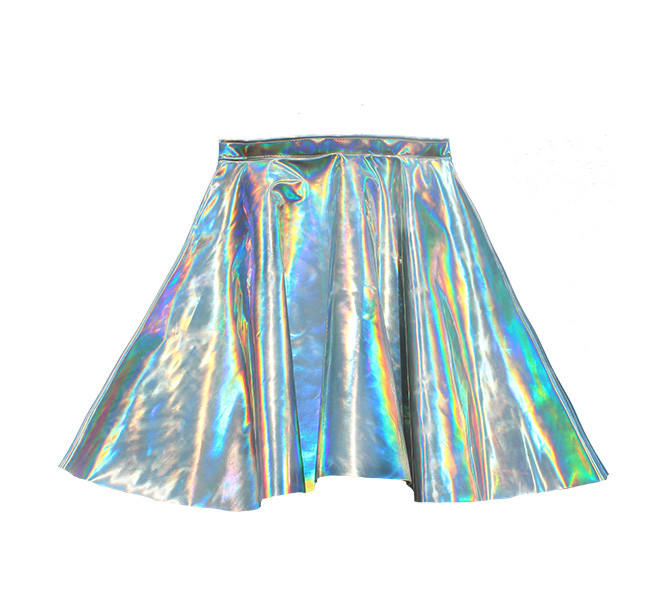 Escali bathroom scale - Holographic Hologram Leather Circle Skirt From Chain Candy