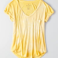 AEO Soft & Sexy V-Neck Favorite T-Shirt, Yellow
