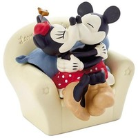 Hallmark Mickey and Minnie on Couch Porcelain Trinket Box