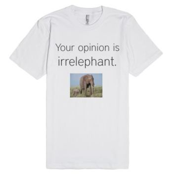 IrrELEPHANT-Unisex White T-Shirt