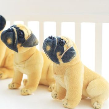 Stuffed Dog Plush Toys Pug Dog Yellow Pug Puppy Dogs Dol Baby Toy Animal Peluche For Girls Friends Children 20/25/30cm 1pc