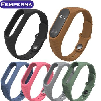 New Wrist Strap for Xiaomi MiBand 2 Replacement Silicone Wristband Aurora WatchBand bulit in Anti-Lost Buckling for Mi Band 2