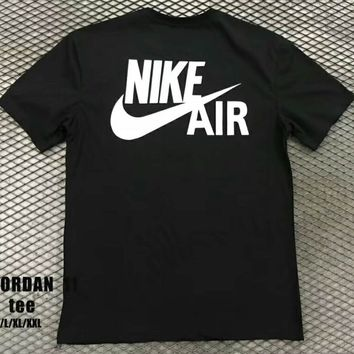 NIKE AIR JORDAN 11 Tide brand fashion casual men and women trend t-shirt F-XMCP-YC black