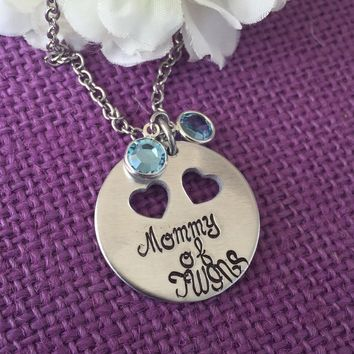 Mommy of Twins - Expecting Mother Necklace - Baby shower gift - Twins Mommy - Mother Of Twins Necklace