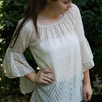 Summer of Love Top, Cream