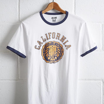 Tailgate Men's UC Berkeley Ringer T-Shirt, White
