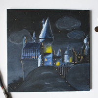 Harry Potter Hogwarts Painting (ORIGINAL)