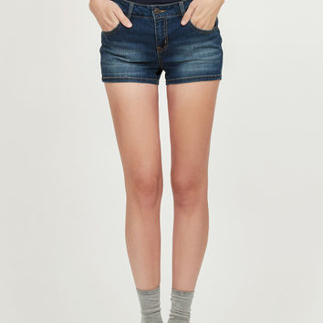 LE3NO Womens Fitted High Rise Push Up Denim Jean Shorts