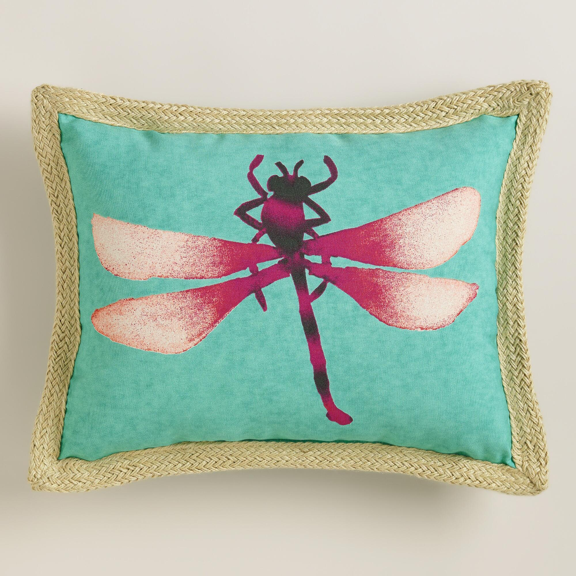 Dragonfly Outdoor Lumbar Pillow From Cost Plus World Market