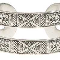 Lucky Brand Etched Tribal Cuff Womens - Silver (One Size)