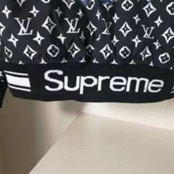 SPBEST Black REPLICA Supreme X Louis Vuitton White jacket (White LV Monograms)
