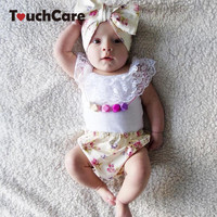 Touchcare 3 Pcs Newborn Baby Girls Clothes