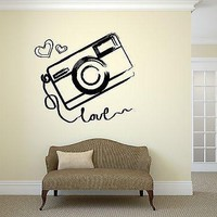 Wall Vinyl Sticker Photo Photography Room Art Kids Teen Room Love Girl Unique Gift (ig2046)