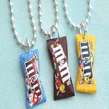 M&m's Candy Bag Necklace